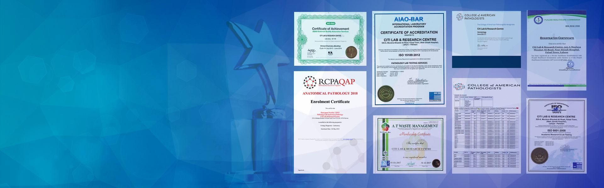 Citi Lab All Certificates