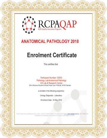 Citi Lab RCPAQAP Certificate